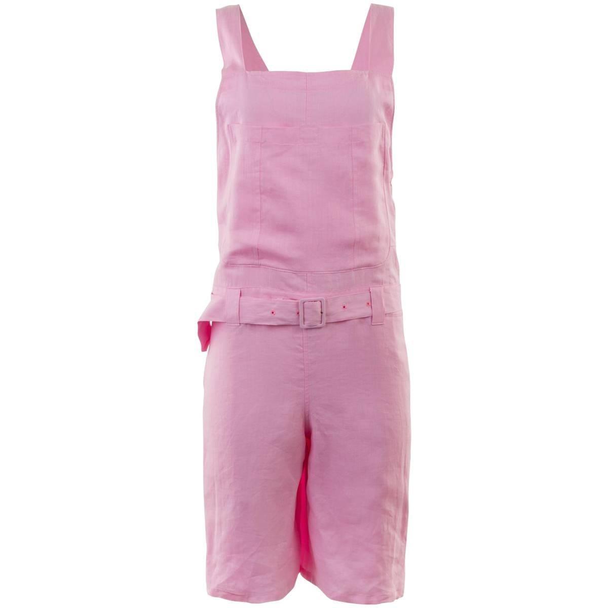 JUNYA WATANABE S/S 2008 Pink Linen Short Overalls