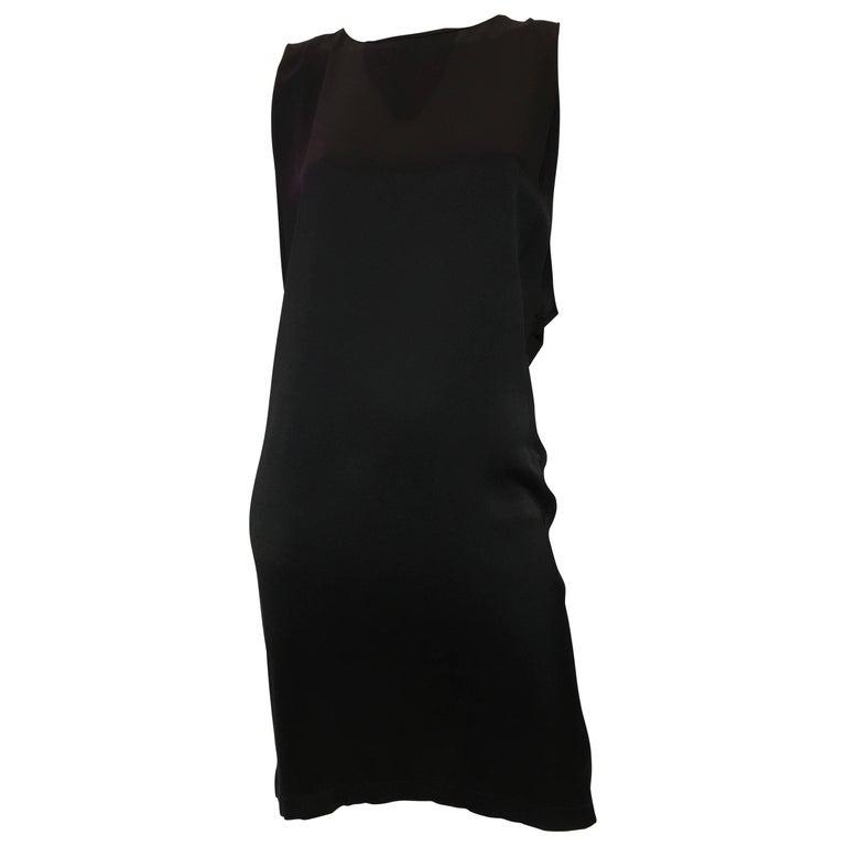 677baf00a593 Chanel Black Silk Dress For Sale at 1stdibs