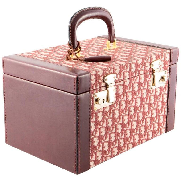 Dior Bordeaux Vanity Case Bag, 1970s For Sale at 1stdibs