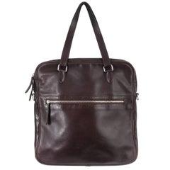 Hermes Brown Leather Men's Bag / Briefcase