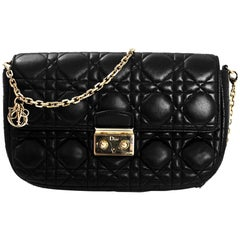 Christian Dior Black Small Miss Dior Promenade Crossbody Bag