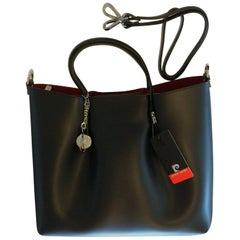 Pierre Cardin New black leather handbag with internal removable envelope