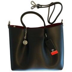 Pierre Cardin New black leather handbag with internal removable envelope