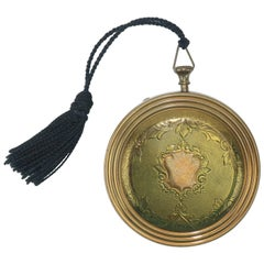 "Zell ""Pocket Watch"" Powder Compact, 1940s"