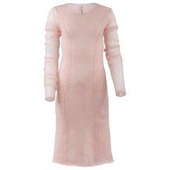 2008 F/W TAO comme des garçons Pink Mohair Sweater Dress