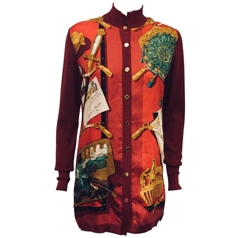 Homage to Thierry Hermès Ecole de Chasse Cardigan/Top by Latham Original Print