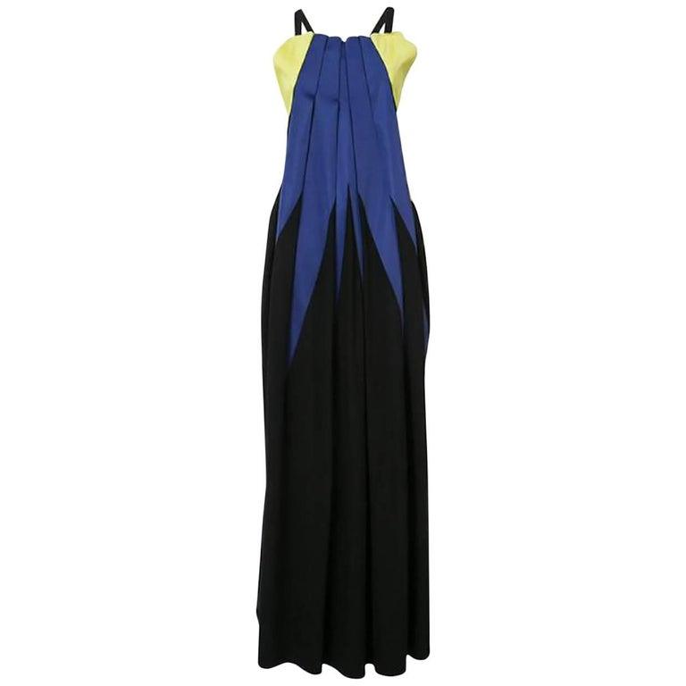 Issey Miyake Minimal Stick Cross-Back Dress