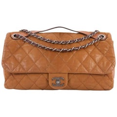 Chanel In the Mix Flap Bag Quilted Iridescent Leather Jumbo