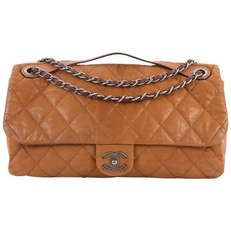 859c862bc01546 Chanel In the Mix Flap Bag Quilted Iridescent Leather Jumbo at 1stdibs