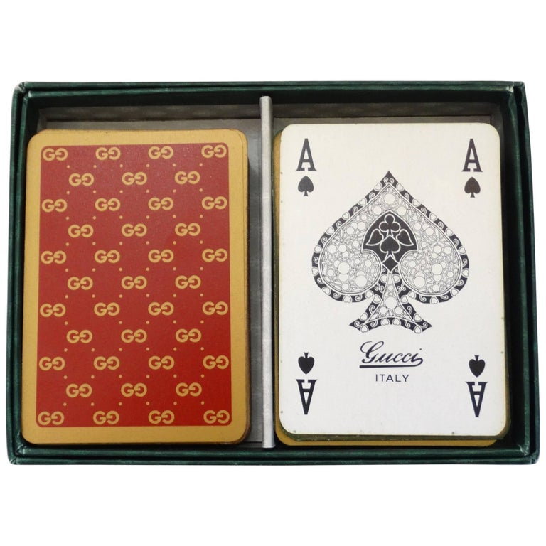 Gucci Monogram Playing Cards, 1970s