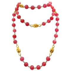 Chanel Pink Gripoix Necklace, 1997