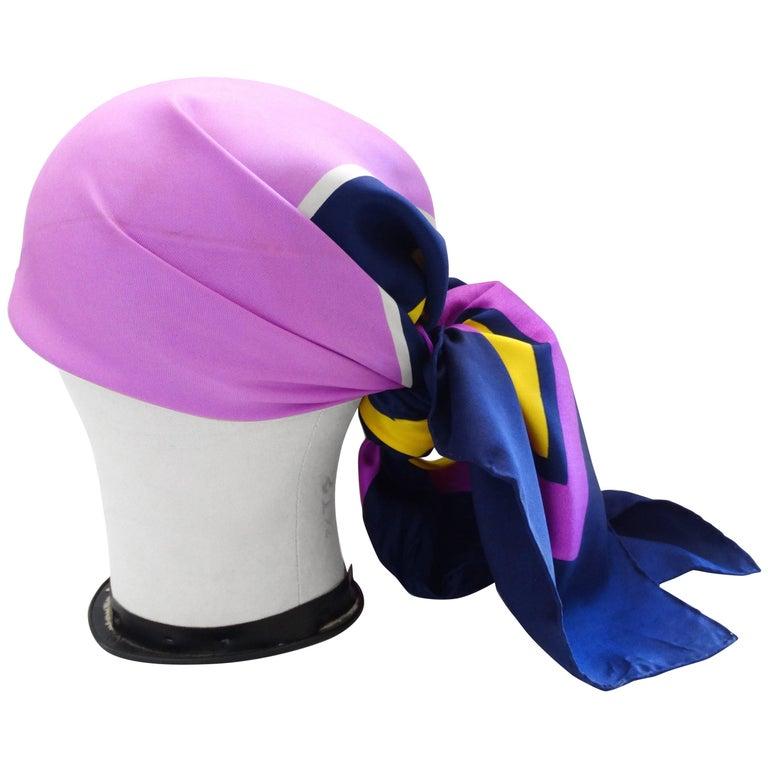 Yves Saint Laurent Color Block Silk Scarf, 1960s  For Sale