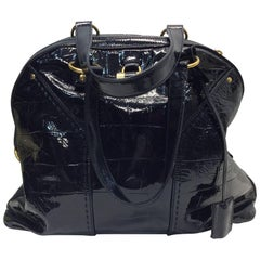Yves Saint Laurent Black Leather Muse Tote