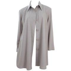 Vintage 90s Gianfranco Ferre Light Jacket or Blouse in Khaki Green