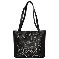 Dolce & Gabbana Black Leather Studded Tote Bag