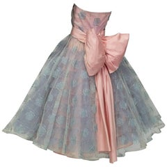 Will Steinman Strapless Back Bow Party Dress, 1950s