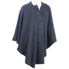 CHANEL Grey Cashmere Knit Cape
