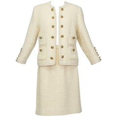 Chanel-Inspired 28-Button Bouclé Cardigan Suit, 1960s