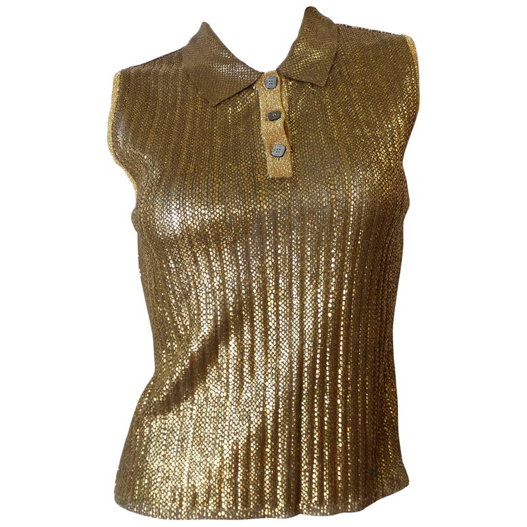 Chanel Gold Sleeveless Polo,  2001