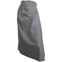 Intuitions by Maurice Antaya Wool Houndstooth Wrap Skirt Size 4.
