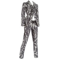 Junya Watanabe Spring-Summer 2007 jacquard denim tailored skinny pant suit