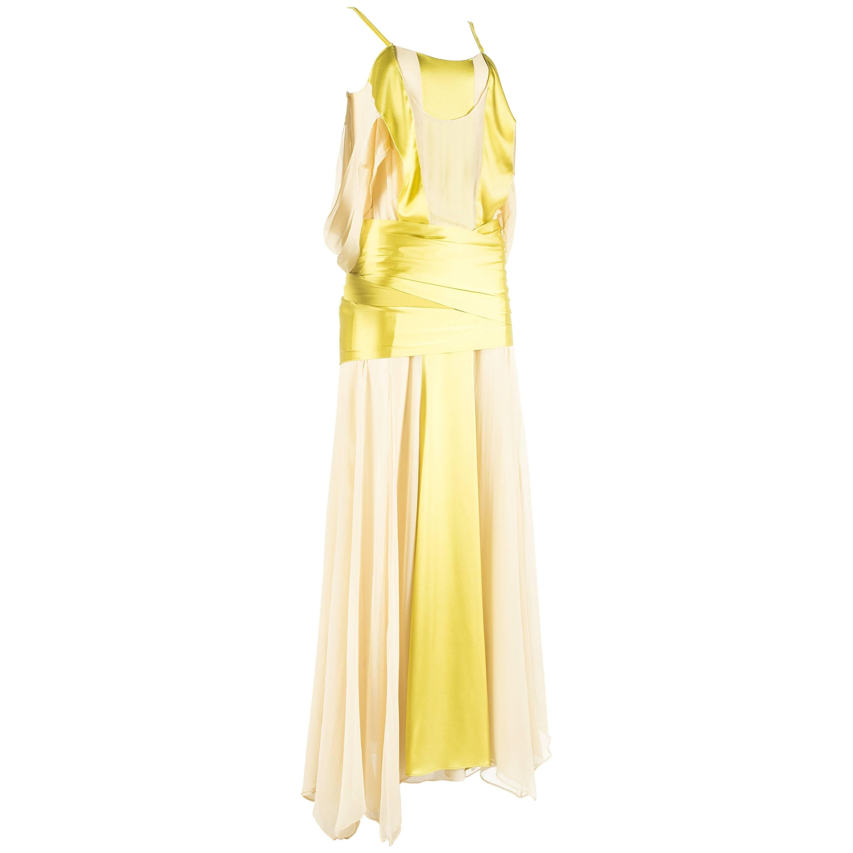 Tom Ford for Yves Saint Laurent Spring-Summer 2004 silk evening gown