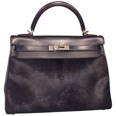 Hermes Evercalf Box Calf Leather Ponyhair Retourne Troika Kelly