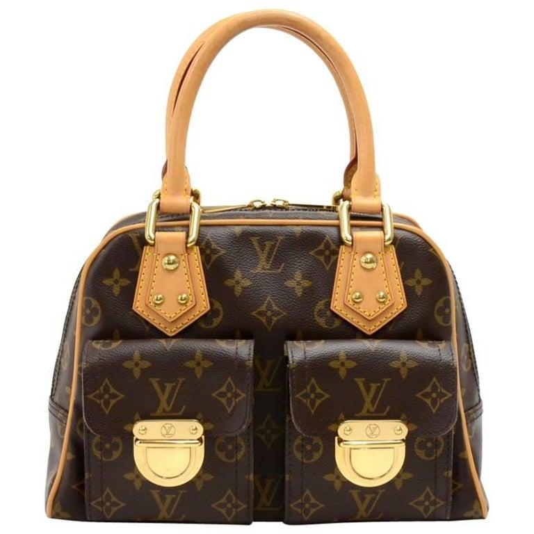 Louis Vuitton Manhattan PM Monogram Canvas Hand Bag For Sale