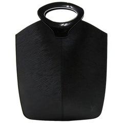 Louis Vuitton Demi Lune Black Epi Leather Hand Bag