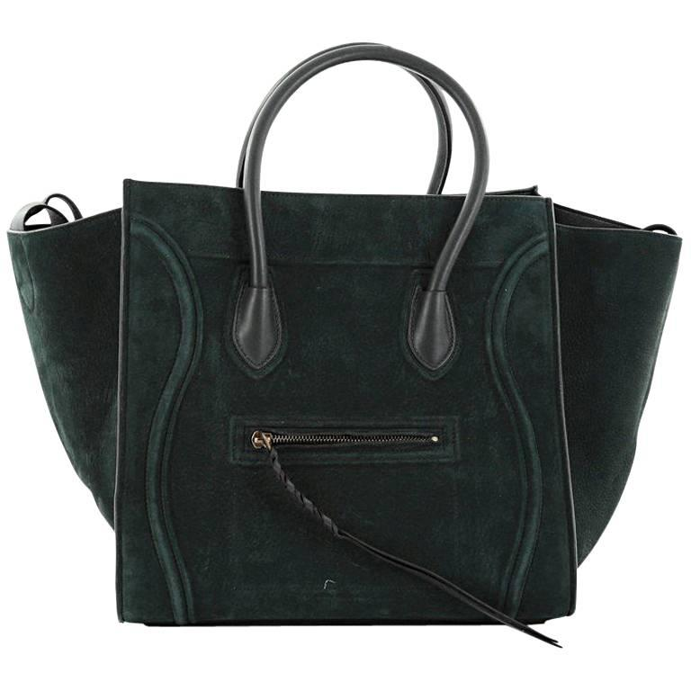 1stdibs Celine Green Patent Leather Satchel With Shoulder Strap With Silver Hardware 6ku7dWQ