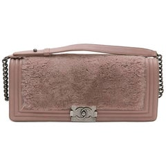 CHANEL 'Boy' Bag in Old Pink Orylag Fur and Leather