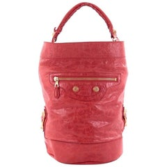 Balenciaga Balhand Giant Studs Handbag Leather