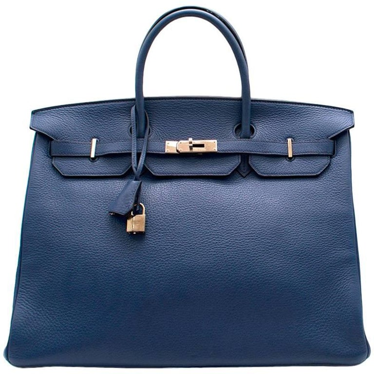 Hermes Blue De Prusse Togo Leather Birkin 40cm For Sale