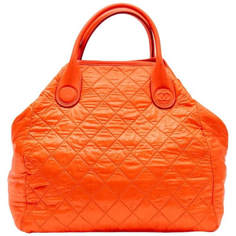 CHANEL 'Cocoon' Bag in Orange Waterproof Material