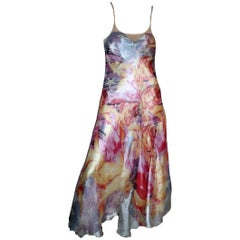 Multicolor Alexander McQueen Cutout Open Back Dancer Dress Spring 2004