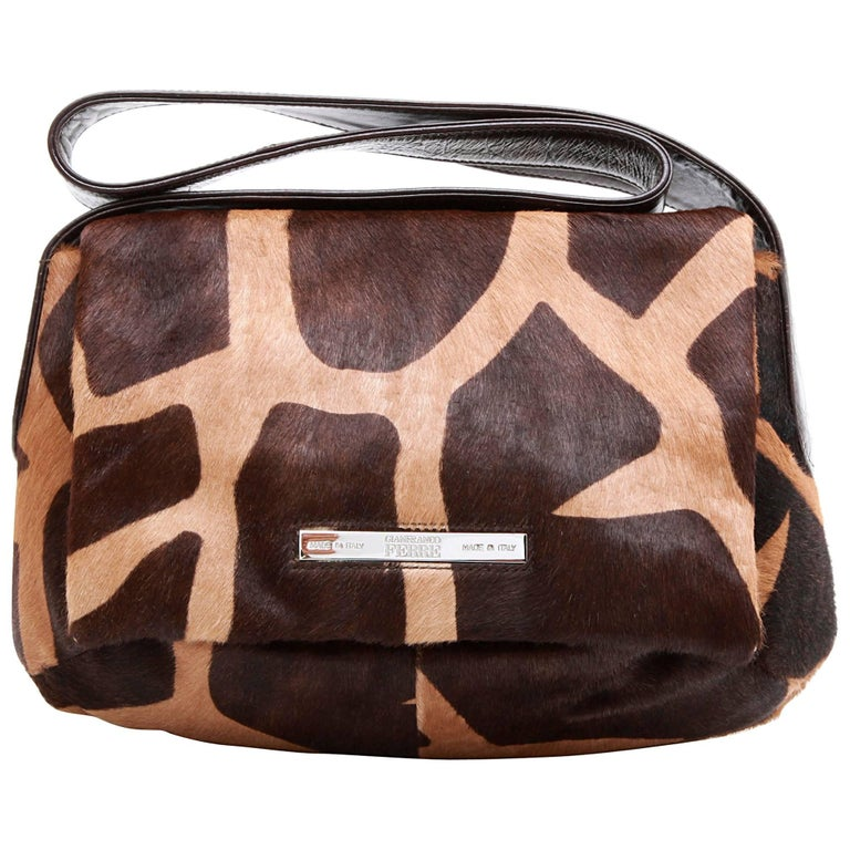 Gianfranco Ferre Vintage Bag In Light And Dark Brown Foal Like Calf For