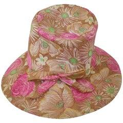 Claire Ann Floral Floppy Hat, 1960s