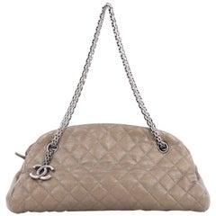 Chanel Just Mademoiselle Handbag Quilted Calfskin Medium