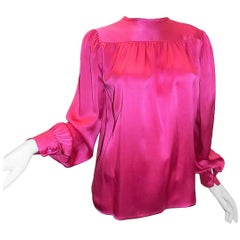 Yves Saint Laurent pink Vintage silk Blouse