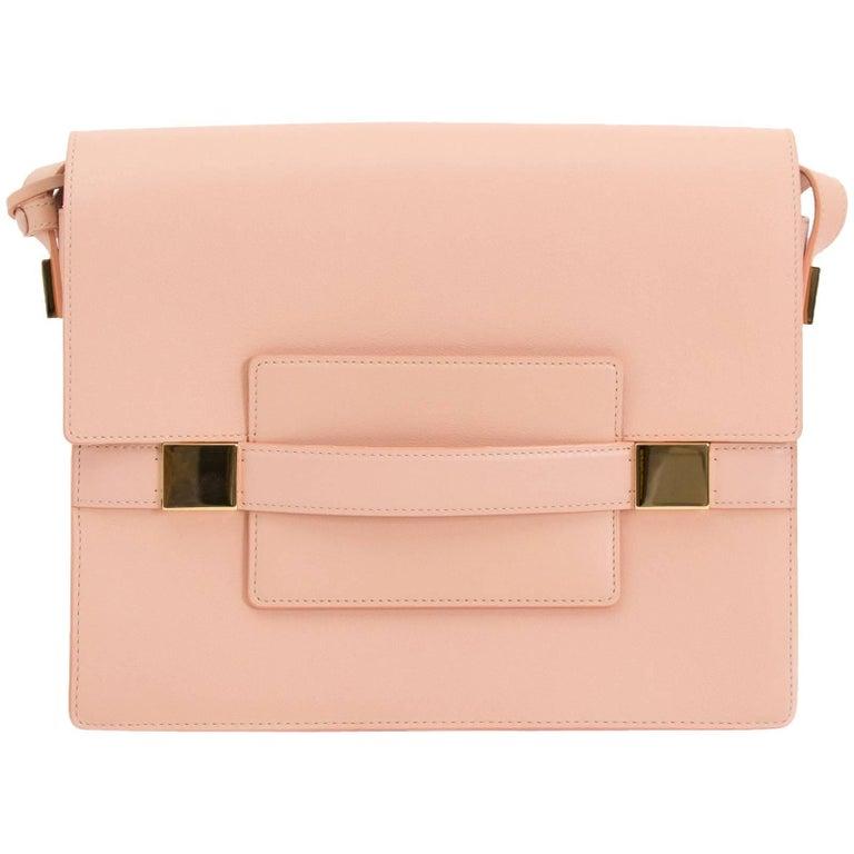 Delvaux Madame GM Rose Polo Shoulder Bag