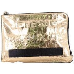 Chanel Feminine Pouch Crinkled Leather Medium