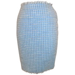 Chanel  blue fringed skirt sz 40