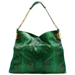 Gucci Green Python Hobo Bag
