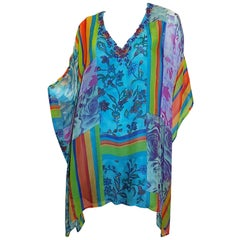 Camilla Multi color beaded silk caftan