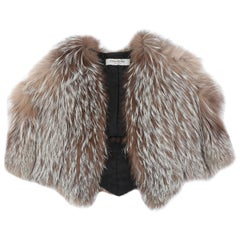 Alber Elbaz for Yves Saint Laurent Autumn-Winter 1999 fox fur capelet