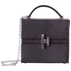 Hermes Cinhetic Runway Black Chevre Palladium Limited Edition Bag