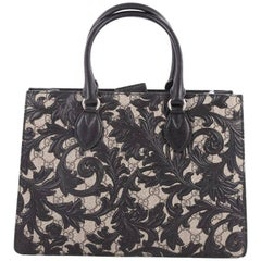 Gucci Convertible Gusset Tote Arabesque GG Coated Canvas Medium