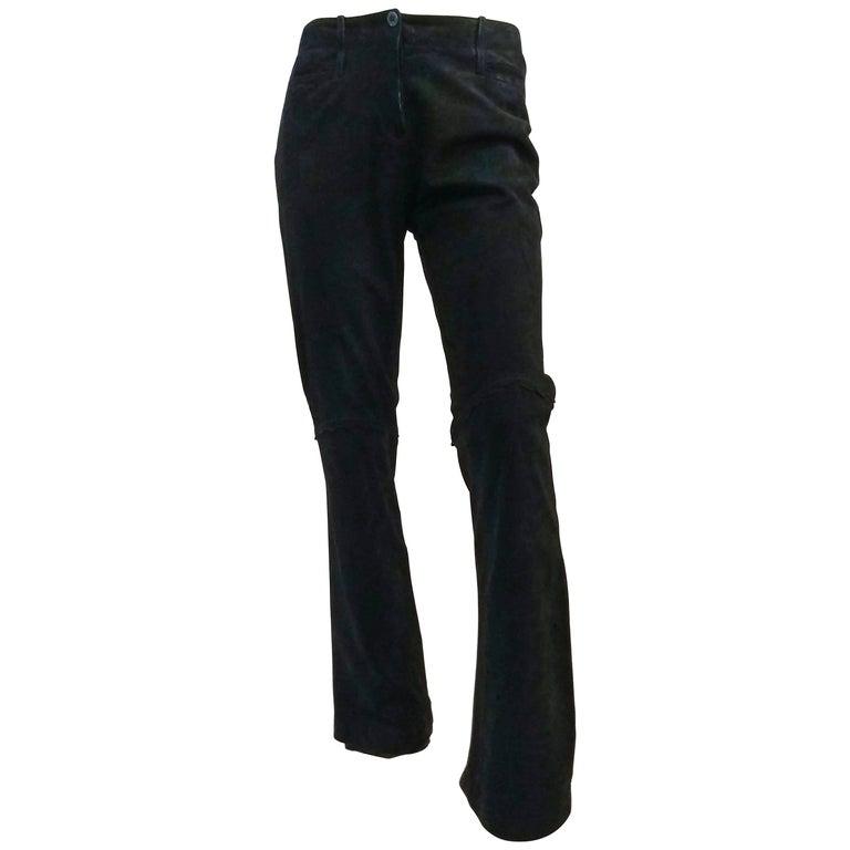Christian Lacroix Black Suede Pants