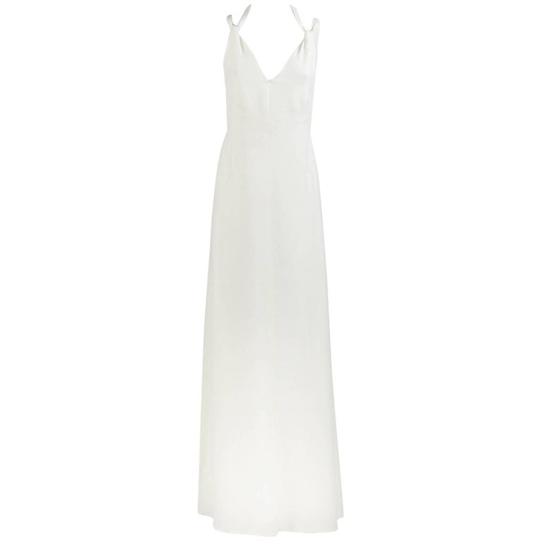 Armani White Silk Wedding Dress, 2000s