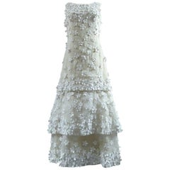 Yves Saint Laurent Couture white organdy ball gown No. 24277, 1970